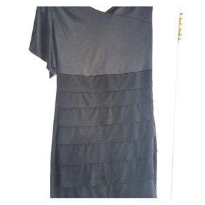 One Sleeve Black Dress